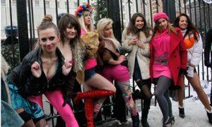 Femen prostitutes protest Kiev