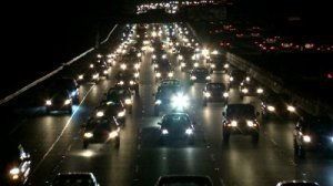 stock-footage-traffic-on-the-busy-freeway-at-night-time-lapse
